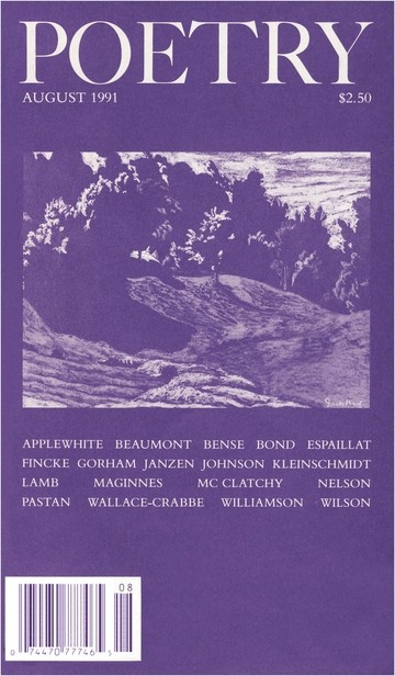 August 1991 Poetry Magazine cover