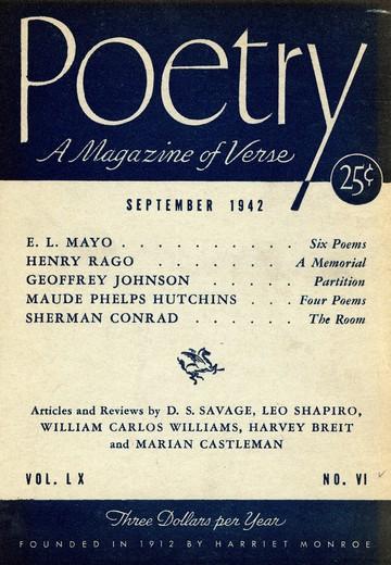 1942年9月诗刊封面