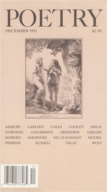 December 1993 Poetry Magazine cover