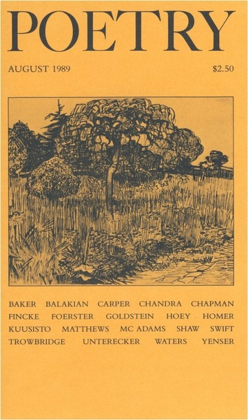 August 1989 Poetry Magazine cover