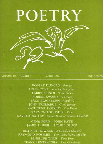 1966年4月诗歌杂志封面