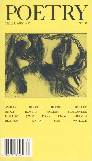 February 1992 Poetry Magazine cover