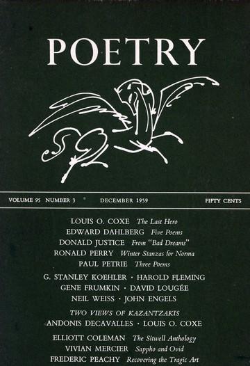 1959年12月诗歌杂志封面