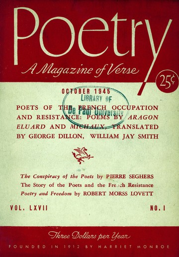 1945年10月诗歌杂志封面