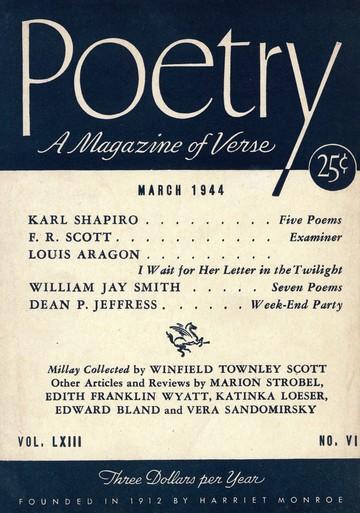 1944年3月诗刊封面