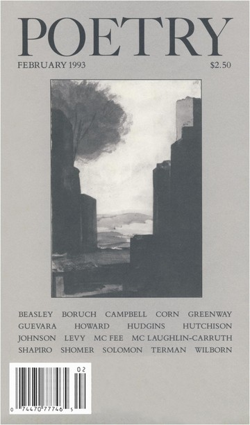 February 1993 Poetry Magazine cover