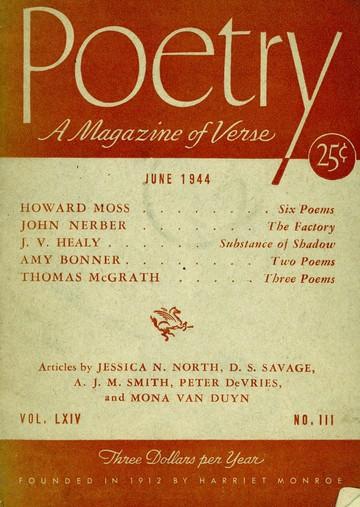 1944年6月诗歌杂志封面
