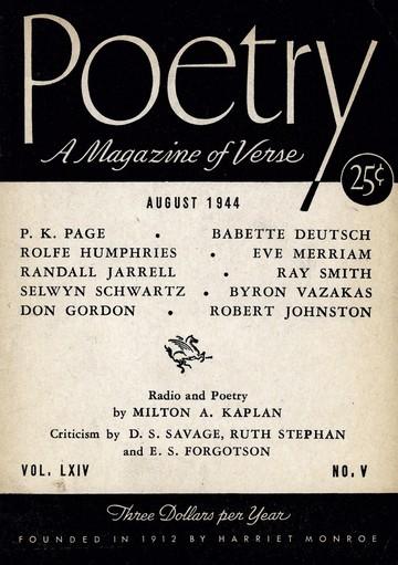 1944年8月诗歌杂志封面