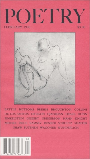 March 1996 Poetry Magazine cover