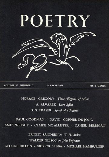 1961年3月诗歌杂志封面