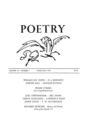 1969年2月诗歌杂志封面