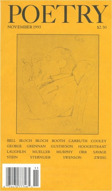 November 1993 Poetry Magazine cover