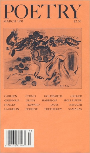 March 1991 Poetry Magazine cover