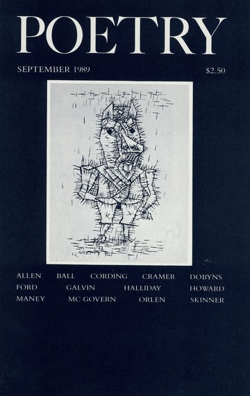 September 1989 Poetry Magazine cover