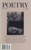 July 1999 Poetry Magazine cover