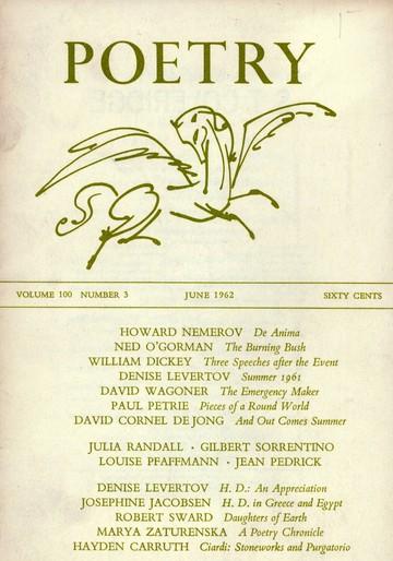 1962年6月诗歌杂志封面