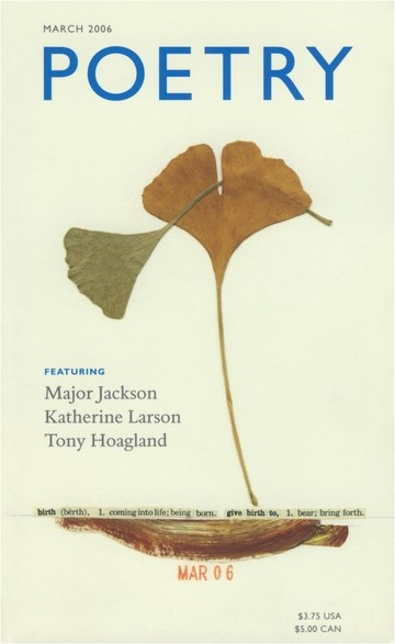 March 2006 Poetry Magazine cover