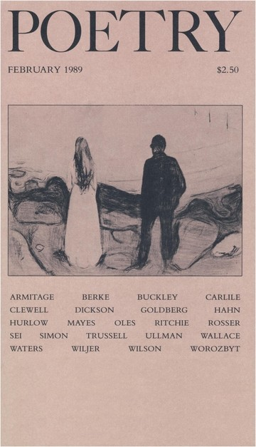 February 1989 Poetry Magazine cover