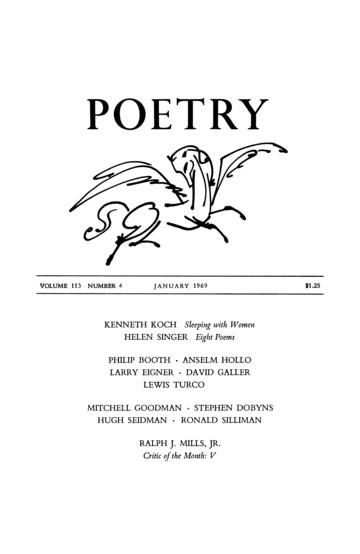 1969年1月诗歌杂志封面