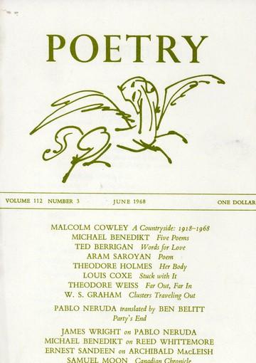 1968年6月诗歌杂志封面
