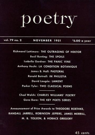 1951年11月诗歌杂志封面