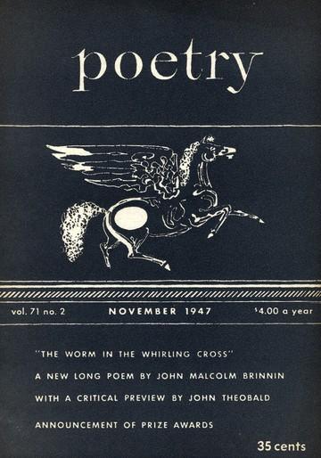 1947年11月诗歌杂志封面