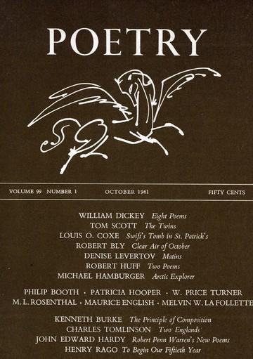1961年10月诗歌杂志封面