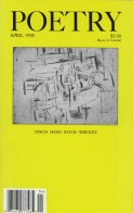 April 1998 Poetry Magazine cover