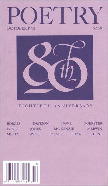 October 1992 Poetry Magazine cover