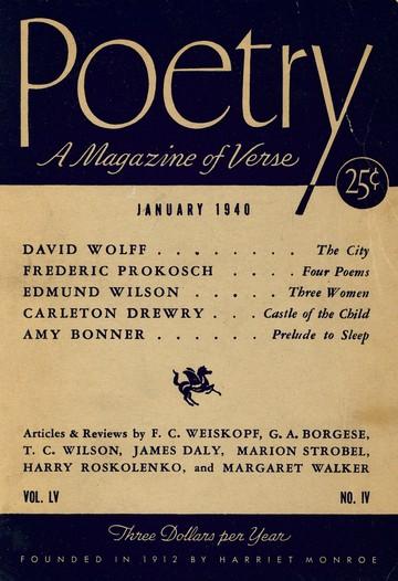1940年1月诗歌杂志封面