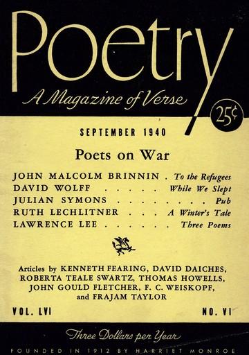 1940年9月诗刊封面