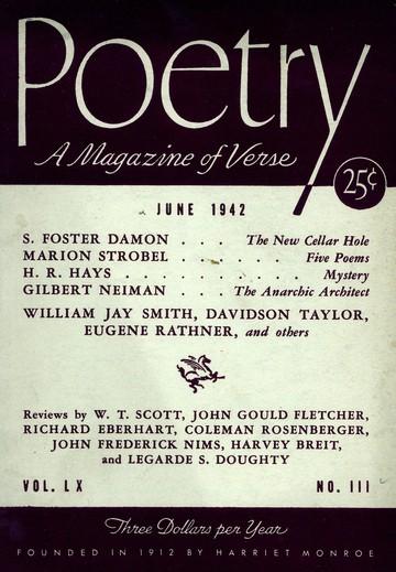 1942年6月诗歌杂志封面