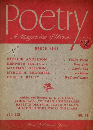 1943年3月诗歌杂志封面