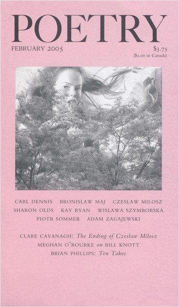 February 2005 Poetry Magazine cover
