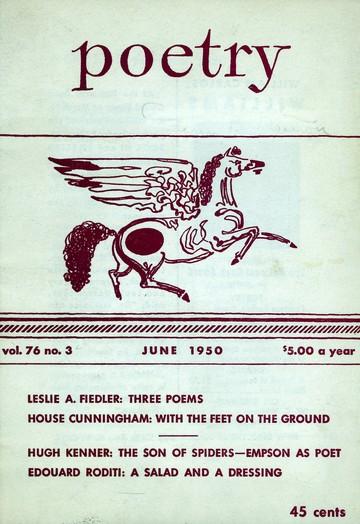 1950年6月诗歌杂志封面