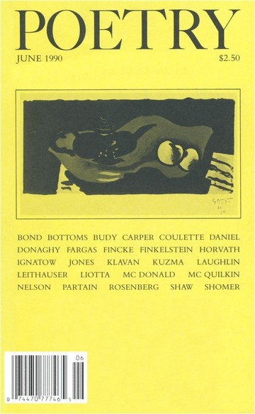 June 1990 Poetry Magazine cover