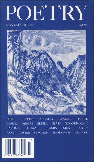 November 1990 Poetry Magazine cover
