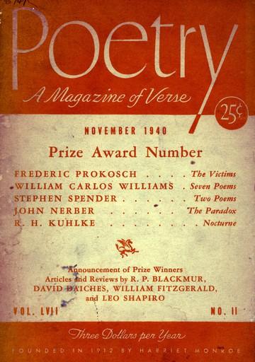 1940年11月诗刊封面