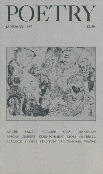 January 1987 Poetry Magazine cover
