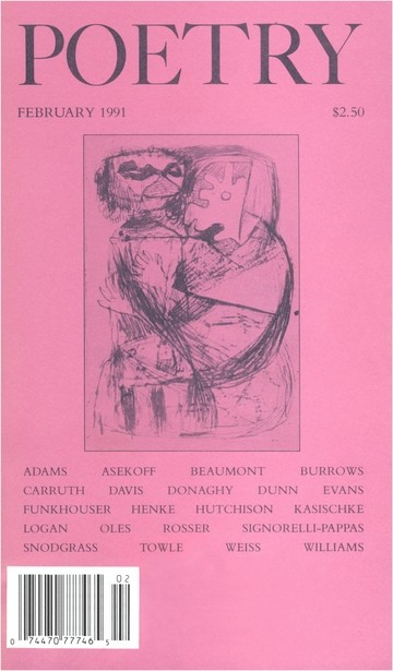 February 1991 Poetry Magazine cover