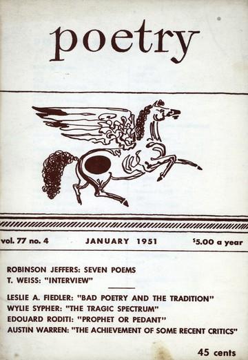 1951年1月诗歌杂志封面