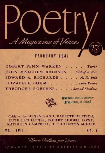 1941年2月诗歌杂志封面
