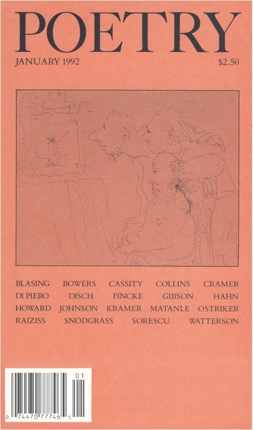 January 1992 Poetry Magazine cover