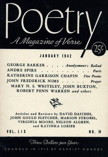 1942年1月诗歌杂志封面