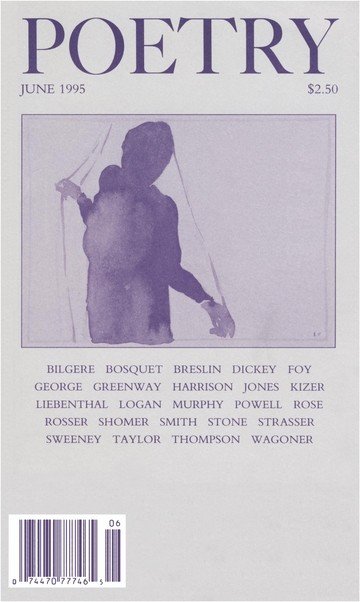 June 1995 Poetry Magazine cover