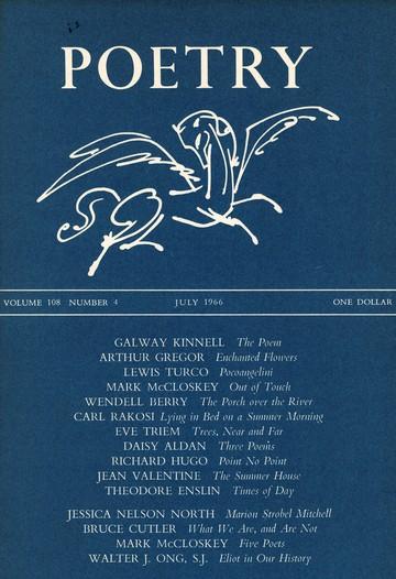 1966年7月诗歌杂志封面