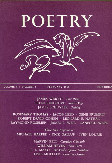 1968年2月诗歌杂志封面