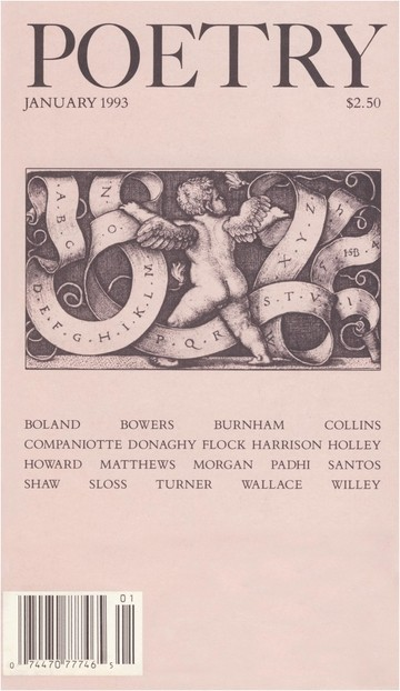 January 1993 Poetry Magazine cover