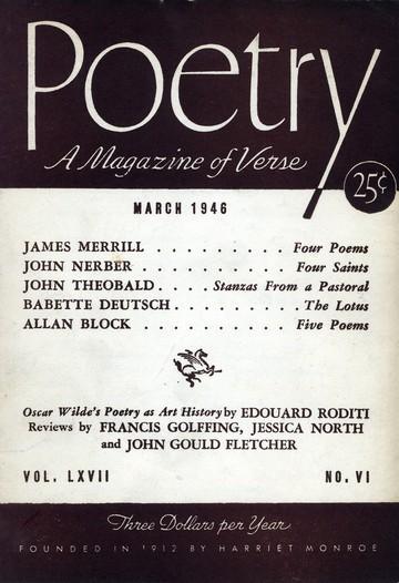 1946年3月诗歌杂志封面
