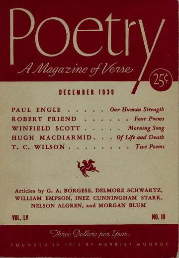 1939年12月诗刊封面